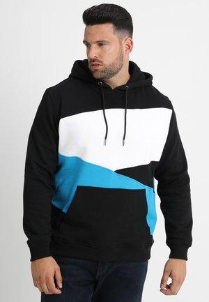 ZIG ZAG HOODY  - Sweatshirt - black/clear green/white