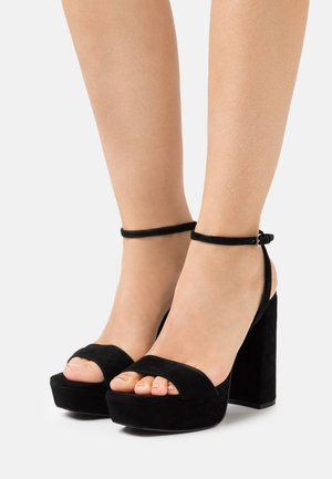 BEAUTY - Sandalias con plataforma - black
