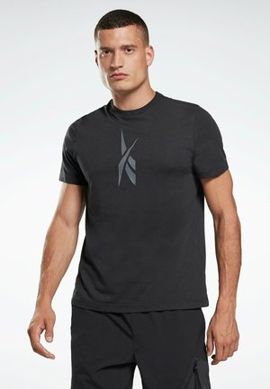 EDGEWORKS  - T-shirt con stampa - black