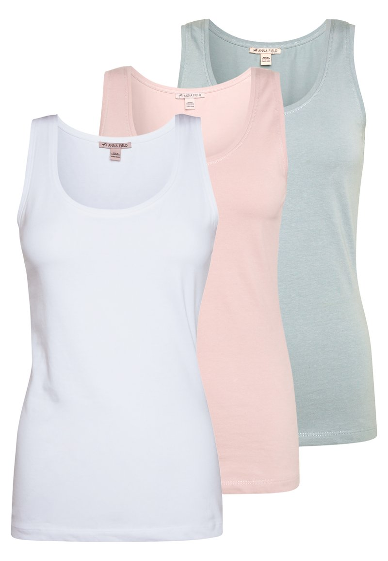 Anna Field - 3 PACK - Top - white/pale mauve/abyss