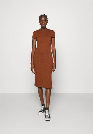 Jersey dress - brown