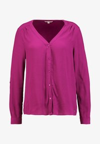TOM TAILOR DENIM - V NECK BLOUSE WITH BUTTONS - Bluser - bright berry - 3