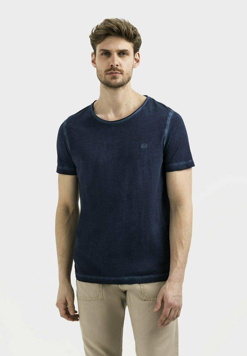 camel active - KURZARM  - Basic T-shirt - dark blue