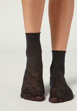 MODISCHE  - Socks - sv-cuori nero