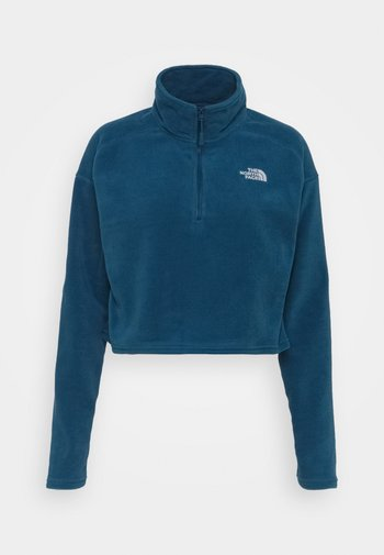 GLACIER CROPPED ZIP - Fleece jumper - monterey blue