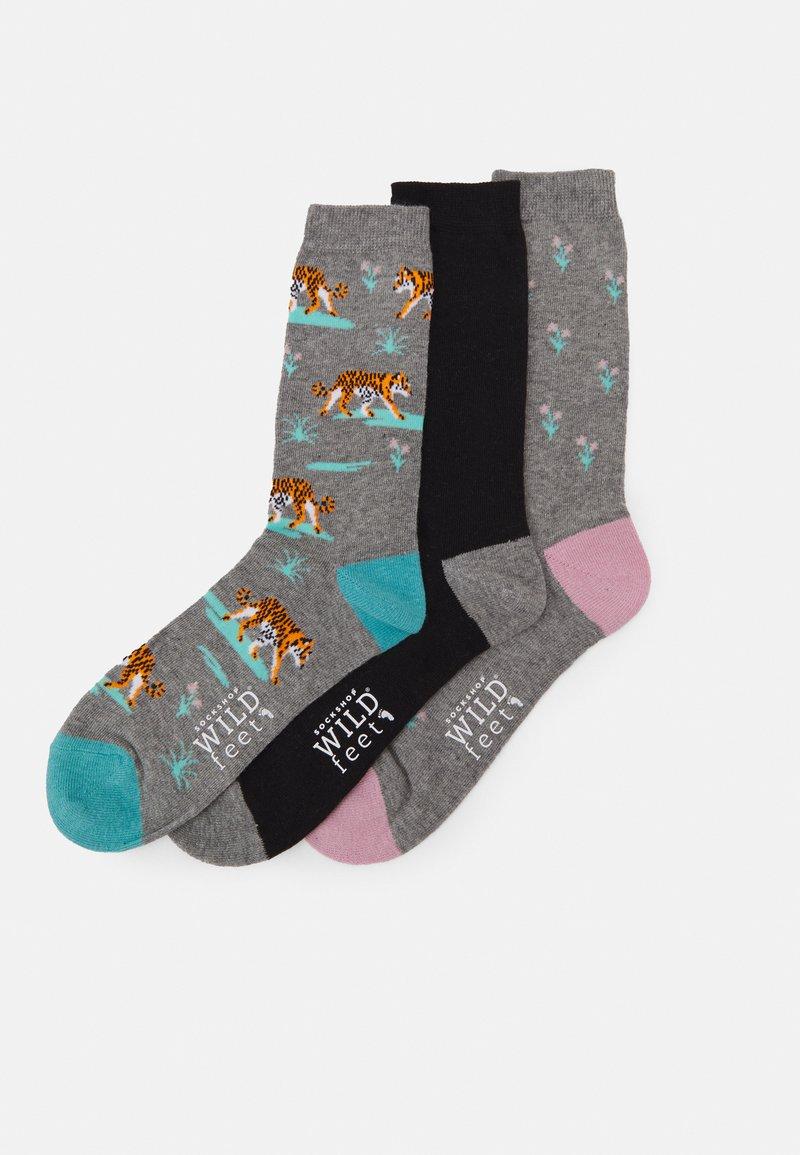 Wild Feet - TIGER SOCKS 3 PACK - Sokken - multi-coloured