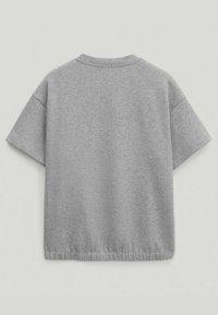 Massimo Dutti - Basic T-shirt - light grey - 4
