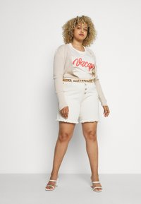 Missguided Plus - SKINNY CARDIGAN - Cardigan - beige - 1