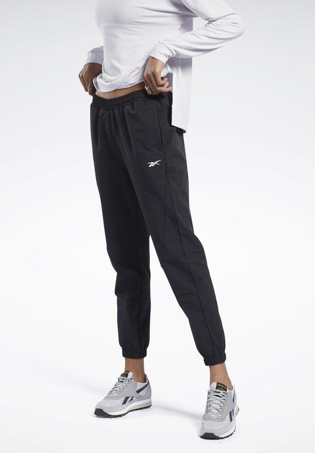 STRETCH WOVEN JOGGERS - Pantaloni sportivi - black