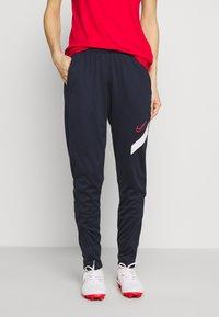 Nike Performance - DRY ACADEMY 20 PANT - Joggebukse - obsidian/white/laser crimson - 0