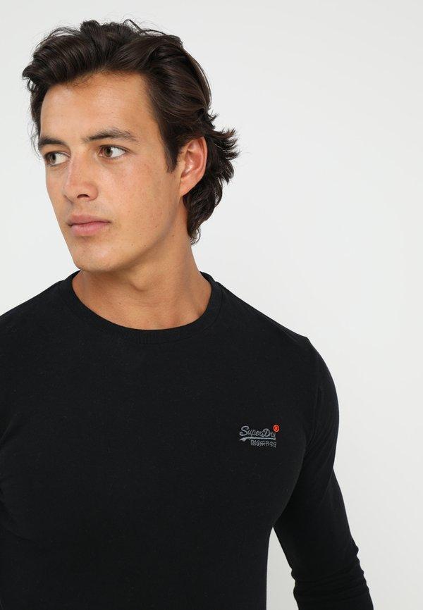 Superdry ORANGE LABEL VINTAGE TEE - Bluzka z długim rękawem - black/czarny Odzież Męska EXNC