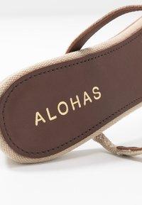 ALOHAS - CANNES - Heeled mules - beige - 2