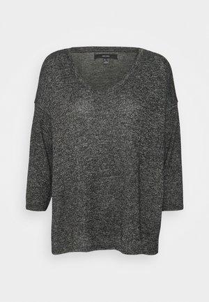 VMBRIANNA V NECK - Jersey de punto - dark grey melange