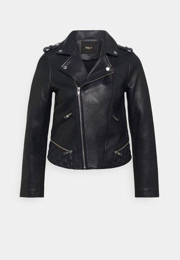 BASALTO - Leather jacket - marine