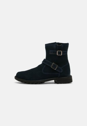 LEATHER - Classic ankle boots - dark blue