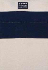 G-Star - WIDE STRIPE TEE - Print T-shirt - whitebait/sartho blue rugby - 2