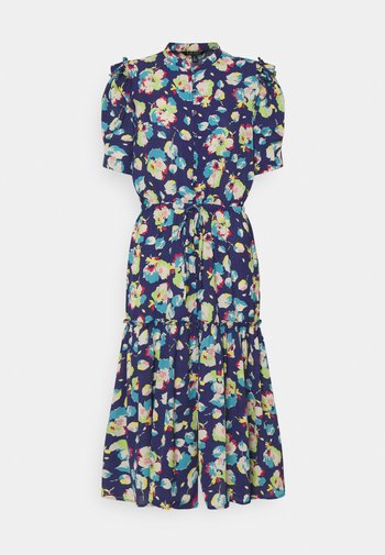 BAYZEE ELBOW SLEEVE CASUAL DRESS - Shirt dress - blue multi