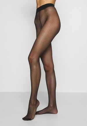FISHNET TIGHT SIGNATURE - Collant - black