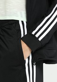 adidas Performance - ESSENTIALS 3STRIPES SPORT TRACKSUIT - Tracksuit - black/white - 7