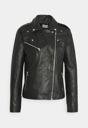 KAVERONA  - Leather jacket - black deep