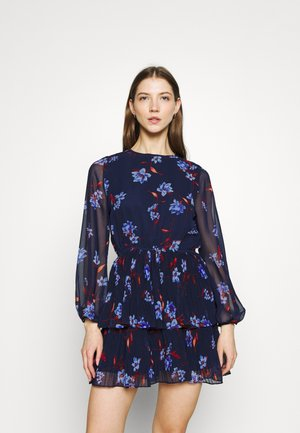 AMBER PLEATED DRESS - Day dress - navy
