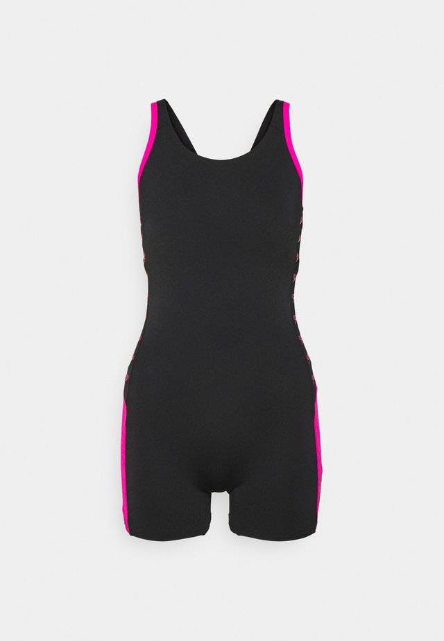 BOOM LOGO  - Swimsuit - black/electric pink