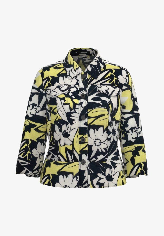 Summer jacket - flower print lemon / black / offwhi
