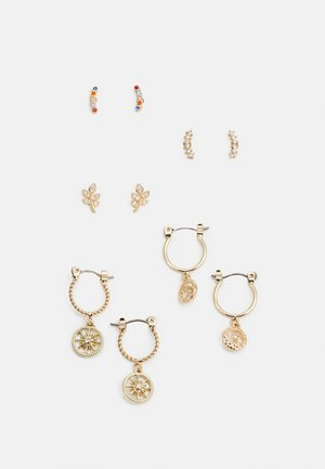 PCFABBY EARRINGS 5 PACK - Øredobber - gold coloured