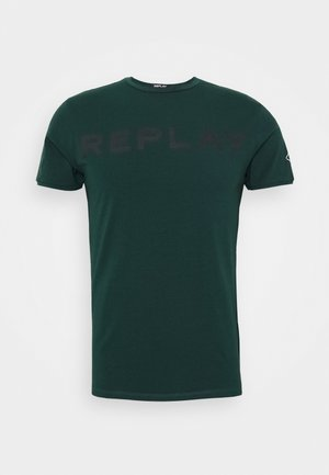 T-shirt con stampa - bottle green