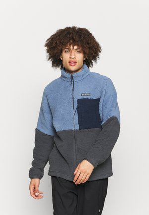 MOUNTAINSIDE™ HEAVYWEIGHT - Fleece jacket - bluestone/shark/collegiate navy