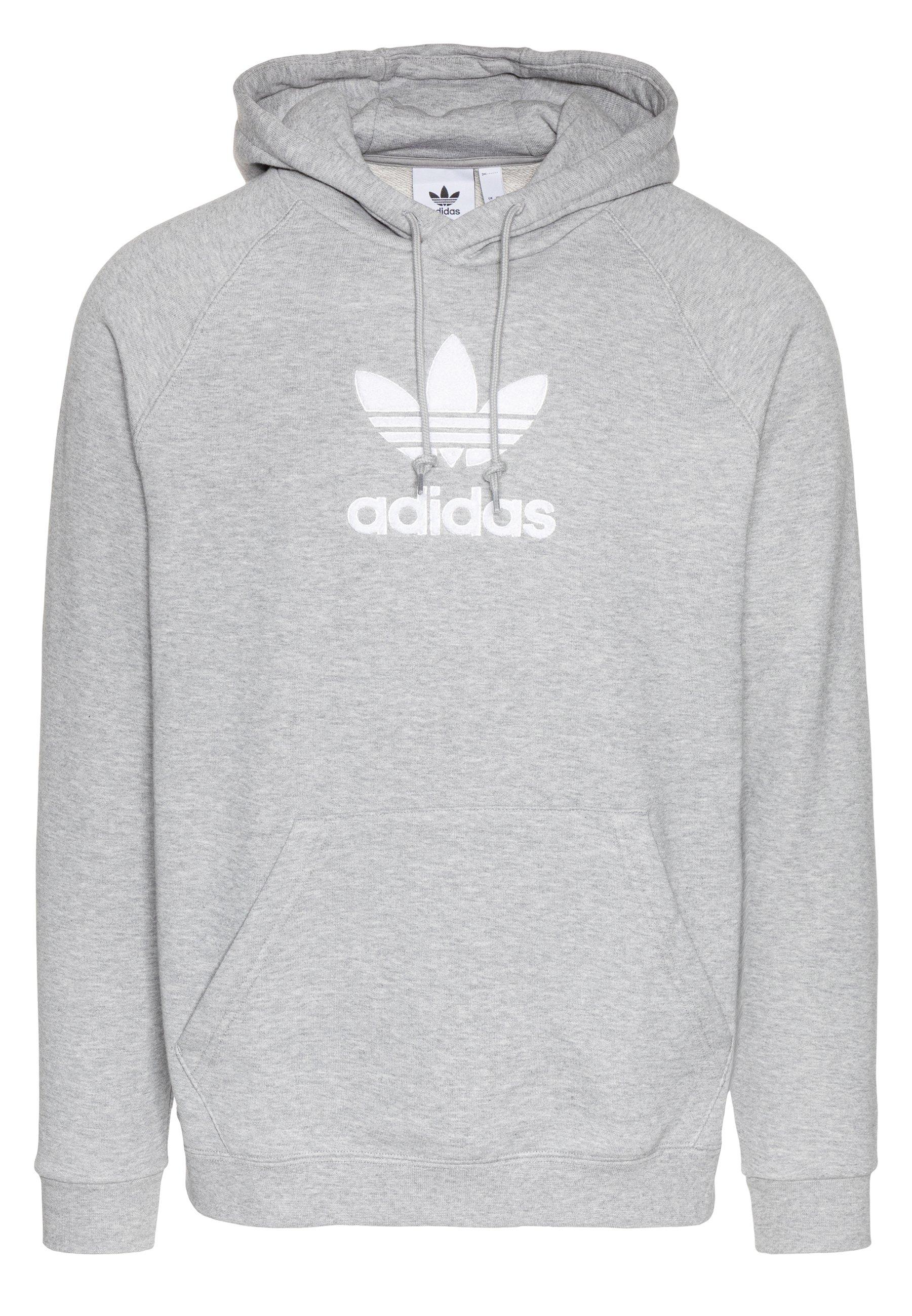 Adidas Originals Adicolor Premium Trefoil Hoddie Sweat - Bluza Z Kapturem Mgreyh