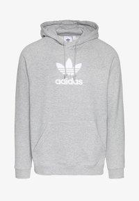 adidas Originals - ADICOLOR PREMIUM TREFOIL HODDIE SWEAT - Bluza z kapturem - mgreyh - 4