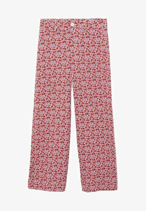 PRINTED - Trousers - ecru