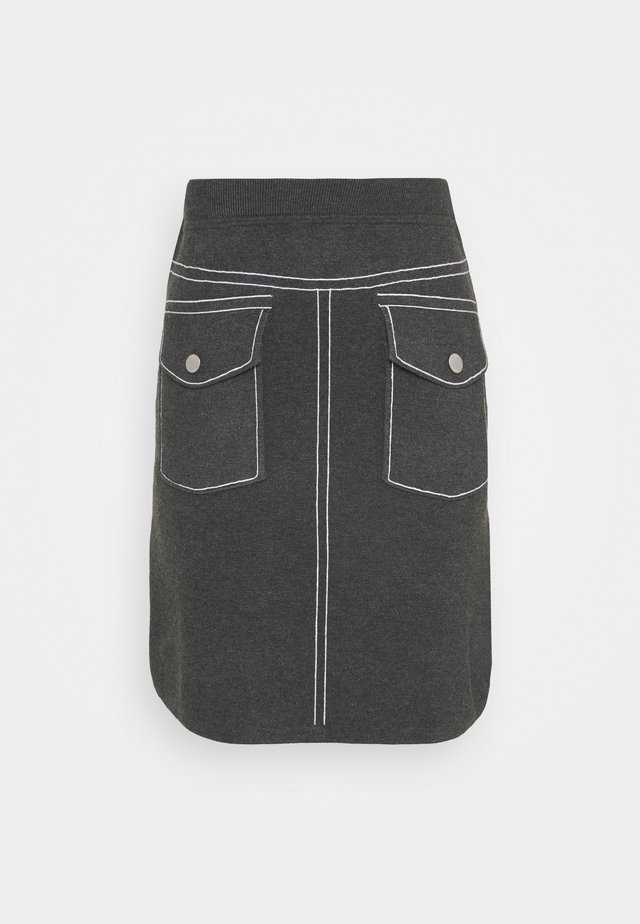 POCKET SKIRT SPECIAL - Kynähame - medium grey