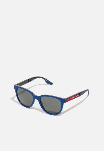Sunglasses - navy rubber/black