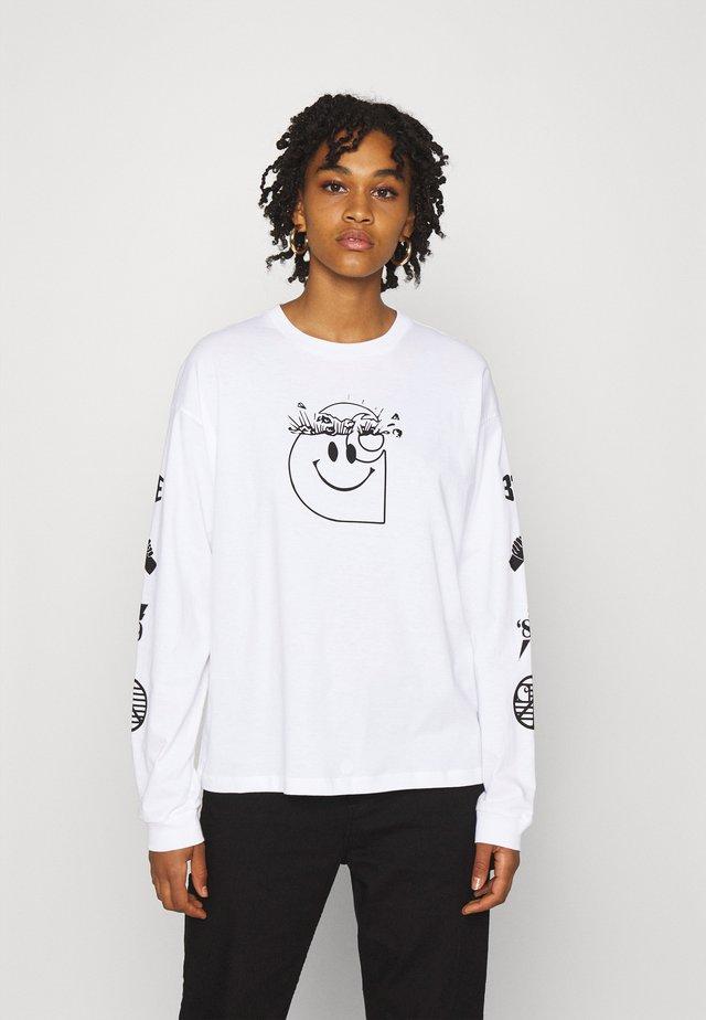 TAB - T-shirt à manches longues - white/black