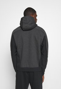 Nike Sportswear - HOODIE - Luvtröja - black heather/smoke grey/white - 2