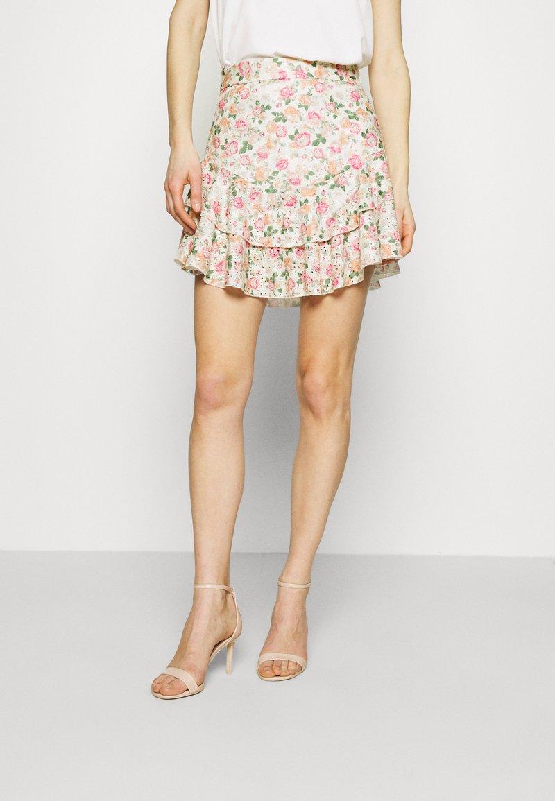 Guess - TATIANA SKIRT - A-line skirt - light pink/multi-coloured