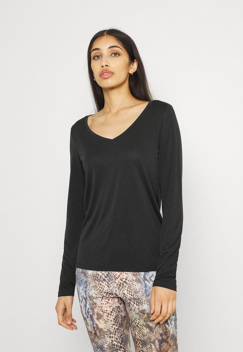 Pieces - PCKAMALA - Long sleeved top - black