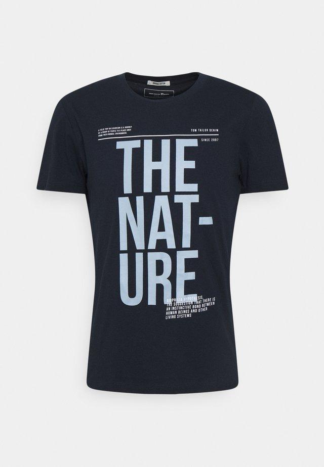 T-shirt imprimé - sky captain blue