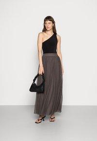 Lace & Beads - MARIKO SKIRT - Falda larga - stone - 1