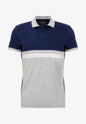 COLOUR BLOCK - Polo shirt - light stone grey melange