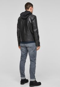 Q/S designed by - Faux leather jacket - black - 2