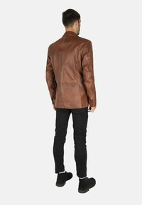 LEATHER HYPE - HYPE BLAZER - Leather jacket - cognac brown - 2
