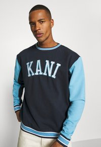 Karl Kani - COLLEGE BLOCK CREW - Sweatshirt - navy - 3