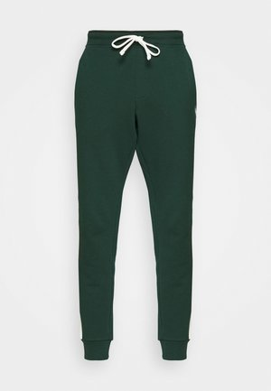 LOOPBACK TERRY PANT ATHLETIC - Tracksuit bottoms - college green/chic cream