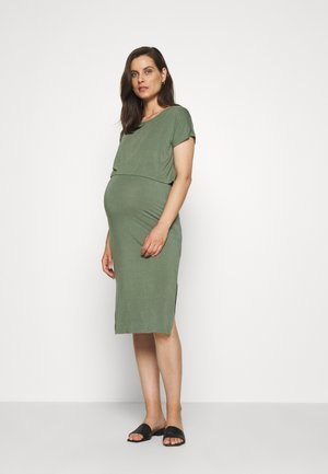 MLJILL JUNE MIDI DRESS  - Jerseykjoler - sea spray melange