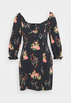 LADIES DRESS - Day dress - black/pink