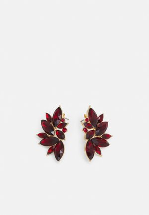 PCSARAFIA EARRINGS - Ohrringe - gold-coloured/red