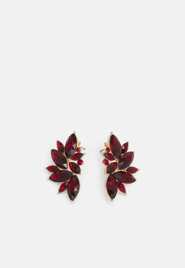 PCSARAFIA EARRINGS - Earrings - gold-coloured/red